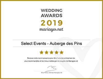 Wedding Award Auberge 2019